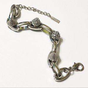 BaubleBar • Silver Pave Crystal Spike Bracelet